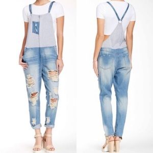 ❤️ Leibl '38 Destroyed Distressed Overalls Jeans M